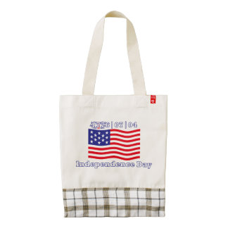 Independence Day Zazzle HEART Tote Bag
