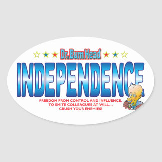 Independence Dr Bum Head Oval Sticker