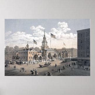Independence Hall Philadelphia 1876 Poster