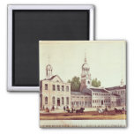 Independence Hall, Philadelphia 2 Inch Square Magnet