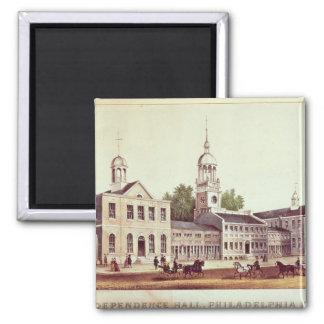 Independence Hall, Philadelphia 2 Inch Square Magnet