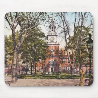Independence Hall Philadelphia, PA 1900 Vintage mousepad