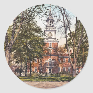 Independence Hall Philadelphia, PA 1900 Vintage Classic Round Sticker