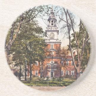 Independence Hall Vintage Philly Pensylvania Coaster