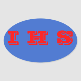 Independence High School Euro-Style oval Stickers