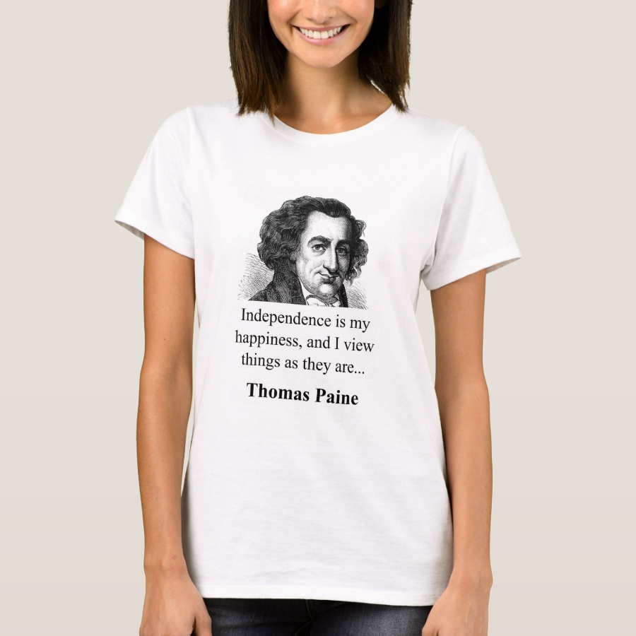 Independence Is My Happiness - Thomas Paine T-Shirt - Best Selling Long-Sleeve Street Fashion Shirt Designs