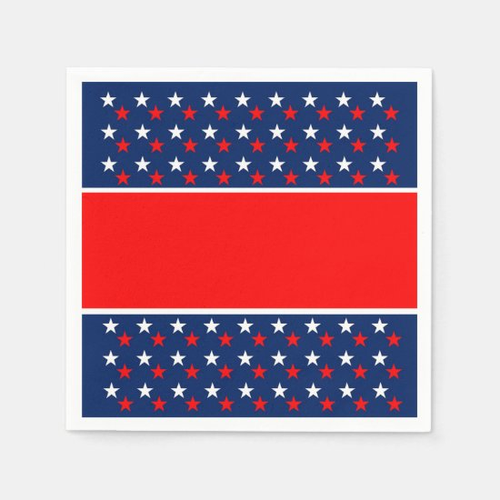 Independence July 4th Party Paper Napkins