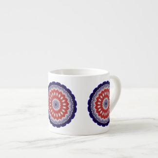 Independence Kaleidocsope Espresso Mug 6 Oz Ceramic Espresso Cup