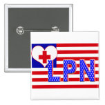 INDEPENDENCE LPN LICENCESED PRACTICAL NURSE FLAG BUTTONS