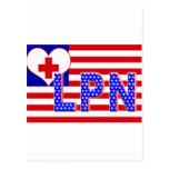 INDEPENDENCE LPN LICENCESED PRACTICAL NURSE FLAG POSTCARD