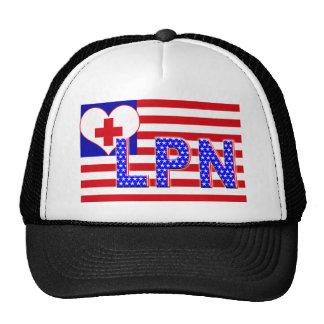 INDEPENDENCE LPN LICENCESED PRACTICAL NURSE FLAG TRUCKER HAT