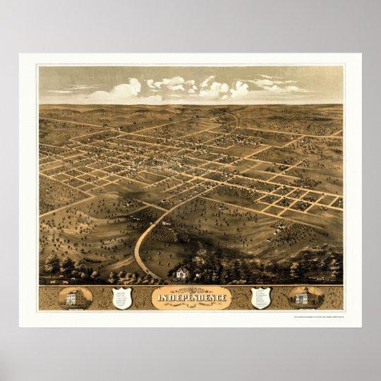 Independence, MO Panoramic Map - 1868 Poster