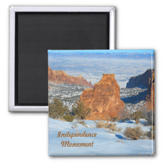 Independence Monument 2 Inch Square Magnet