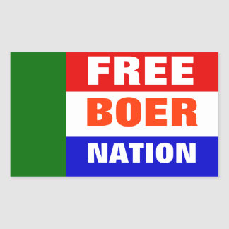 INDEPENDENCE OF THE BOER PEOPLE NATION RECTANGULAR STICKER