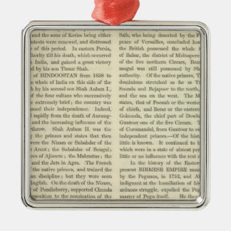 Independence of The United States 1783 AD Metal Ornament