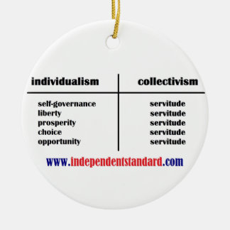 Independence Over Subservience Ceramic Ornament