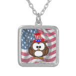 Independence owl Day Custom Necklace