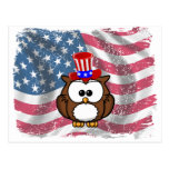 Independence owl Day Postcard
