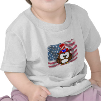 Independence owl Day T-shirt