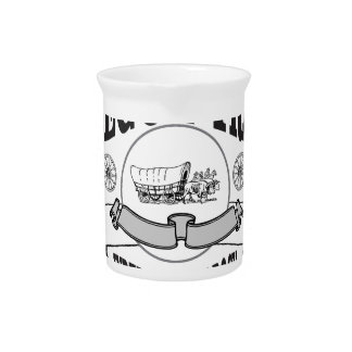 Independence Rock wagon Drink Pitcher