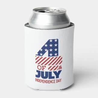 Independence Rules July 4th Beverage Can Cooler