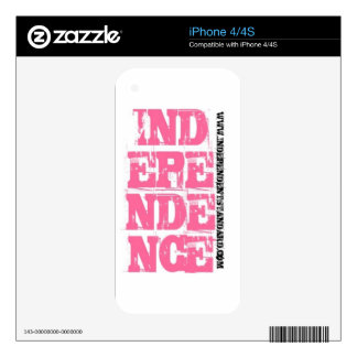 Independence iPhone 4S Decal