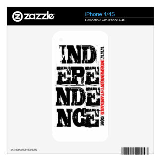 Independence Skins For The iPhone 4