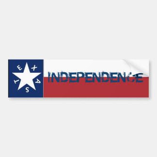 Independence Texas Flag Car Bumper Sticker