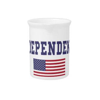 Independence US Flag Drink Pitcher