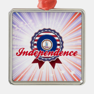 Independence, VA Square Metal Christmas Ornament
