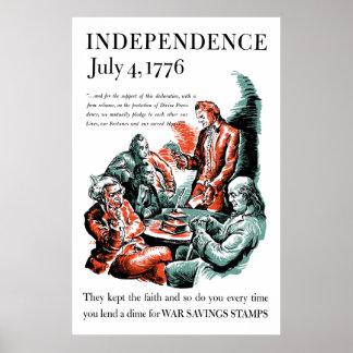 Independencia 4 de julio de 1776 póster