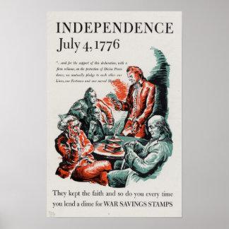 Independencia: 4 de julio de 1776 póster