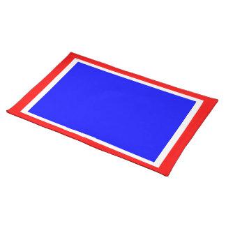 Independencia blanca y azul roja Placemat Mantel