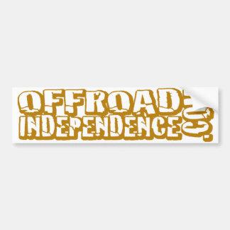 """Independencia campo a través """"cortada"""" pegatina para auto"""
