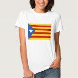 """Independencia catalana """"L'Estelada Blava """" Playera"""