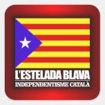 Independencia catalana pegatina cuadradas