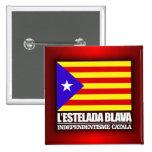 Independencia catalana pin cuadrado