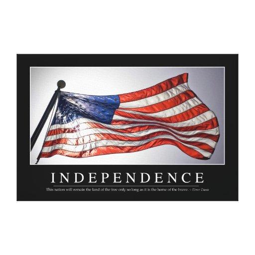 Independencia: Cita inspirada 2 Impresiones En Lona