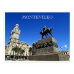 independencia de la plaza de Montevideo Postal