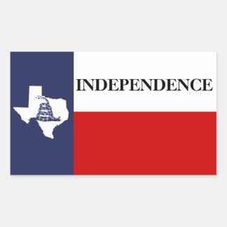Independencia de Tejas - bandera solitaria Gadsden Rectangular Altavoces