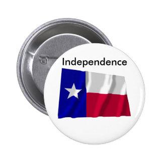 Independencia de Tejas Pin Redondo De 2 Pulgadas