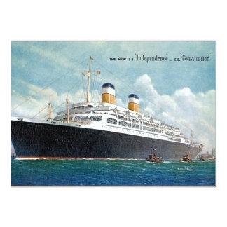 """Independencia de USS y vintage de la constitución Invitación 5"""" X 7"""""""