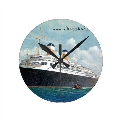 Independencia de USS y vintage de la constitución  Relojes De Pared