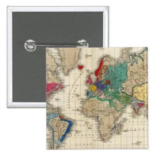 Independencia Del ANUNCIO 1783 de Estados Unidos Pin Cuadrada 5 Cm