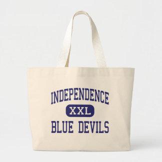 Independencia del centro de los diablos azules de bolsa lienzo
