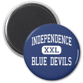 Independencia del centro de los diablos azules de imán de nevera