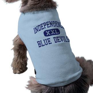 Independencia del centro de los diablos azules de camisas de mascota