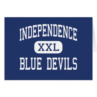 Independencia del centro de los diablos azules de felicitacion