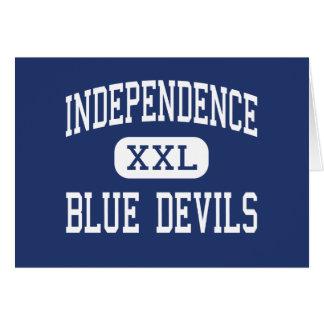 Independencia del centro de los diablos azules de tarjeta