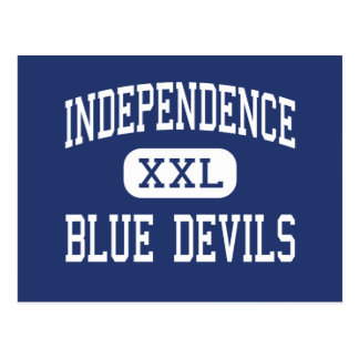 Independencia del centro de los diablos azules de tarjetas postales